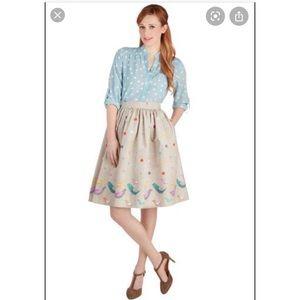 EUC ModCloth Bea & Dot Scrapbook Swap Skirt size M